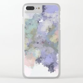 Floral Watercolor Abstract Clear iPhone Case