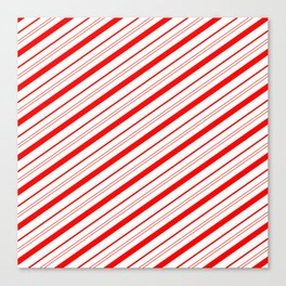 Candy Cane Stripes Canvas Print