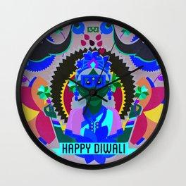 Goddess Lakshmi from India Wall Clock