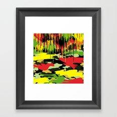 Camouflage pop Framed Art Print