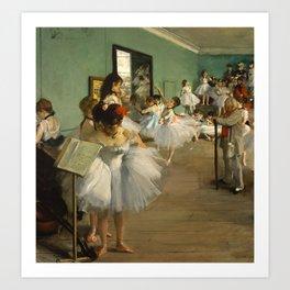 Degas - The Dance Class, 1874 Art Print