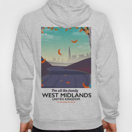 West Midlands, Cartoon travel poster Hoody