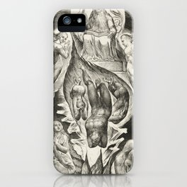 "William Blake ""The Book of Job Pl. 16, Thou hast fulfilled the judgment of the wicked"" iPhone Case"