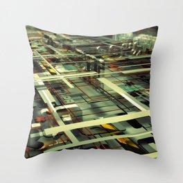 3D poster Throw Pillow