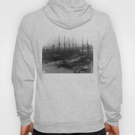 Vintage Ships at Dock NYC Photograph (1908) Hoody