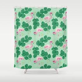 Flamingo Friends Shower Curtain