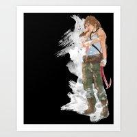 tomb raider Art Prints featuring Tomb Raider by Robbie Drew Dixon