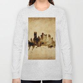 Pittsburgh Pennsylvania Skyline Long Sleeve T-shirt
