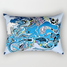 Swimming in the mind Rectangular Pillow