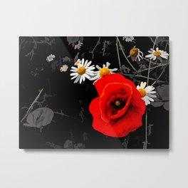 Summer flowers POPPIES, DAIRIES, CORNFLOWERS #1 Metal Print