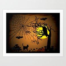 Halloween Night Art Print