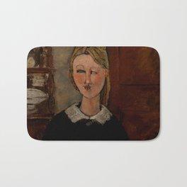 "Amedeo Modigliani ""The Pretty Housewife (La Jolie ménagère)"" Bath Mat"