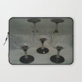 Silver & Black Stemmed Parfait Glasses Laptop Sleeve