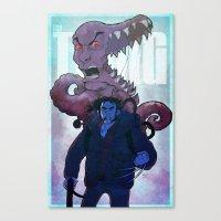 xmen Canvas Prints featuring Xmen vs The Thing by ashurcollective
