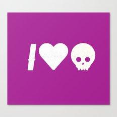 I Love Skulls Canvas Print