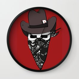 Bandidos skull toon Wall Clock