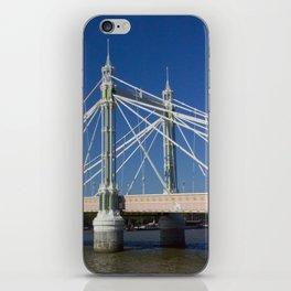 Albert Bridge on the Thames in London (2) iPhone Skin