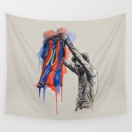 Messi celebration Wall Tapestry