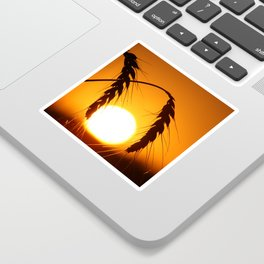 Wheat Sunset Silhouettes Sticker