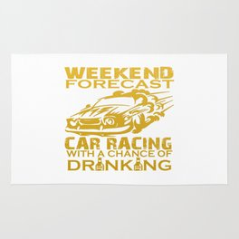 WEEKEND FORECAST CAR RACING Rug