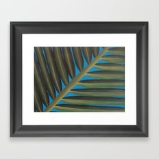 Tropical palm frond leaf Framed Art Print