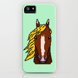 Horse with yellow hair iPhone Case