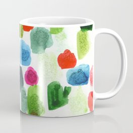 abstract marks: red, green, blue Coffee Mug