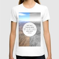 not all who wander T-shirts featuring Wander by Cactus And Fog