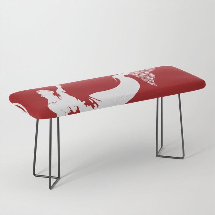 Merman - Red & White - Mermay 2019 Bench