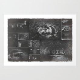 Underground factory collage Art Print
