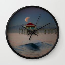 2018 Super Blue Moon Lunar Eclipse Wall Clock