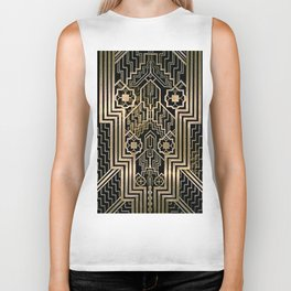 Art Nouveau Metallic design Biker Tank