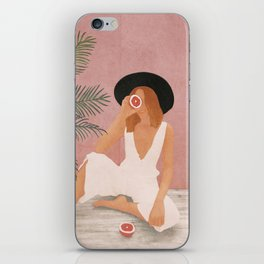 Woman with Oranges iPhone Skin