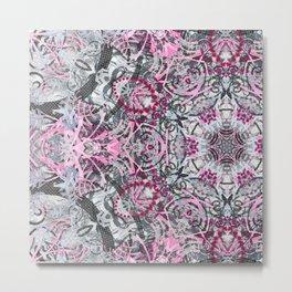 Gray and Pink Metal Print