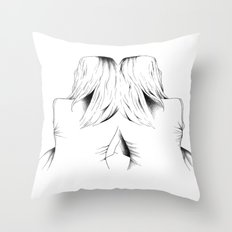 in a dream we're connected Throw Pillow