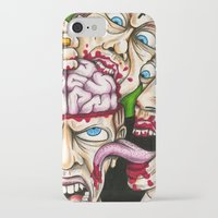 atheist iPhone & iPod Cases featuring Atheist Eaters II by Adam Bright