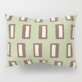 Chad Pattern Sage Green and Brown Pillow Sham