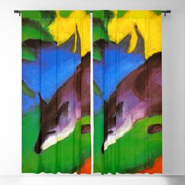 Franz Marc - Blue-Black Fox Blackout Curtain