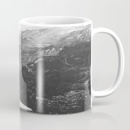 Mountain State // Colorado Rocky Mountains off the Wing of an Airplane Landscape Photo Coffee Mug