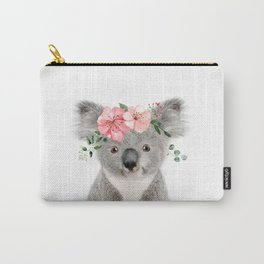 Baby Koala with Flower Crown Carry-All Pouch