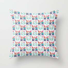 Gnome Love Pattern Throw Pillow