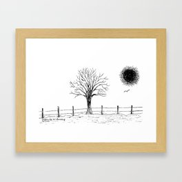 Ingenuity in Ranching Framed Art Print
