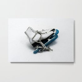 Ice Skates & Blues Metal Print