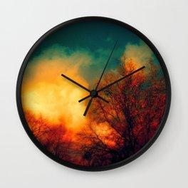 Violent Autumn #1 Wall Clock
