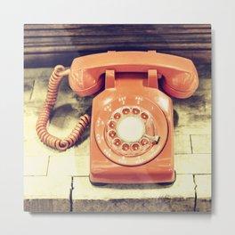 Vintage Phone Metal Print