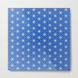 Blue Sapphire Japanese Star Art Deco Design Metal Print