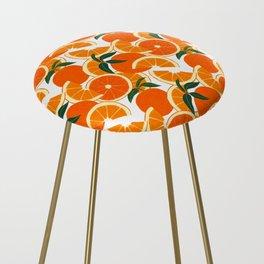 Orange Harvest - White Counter Stool