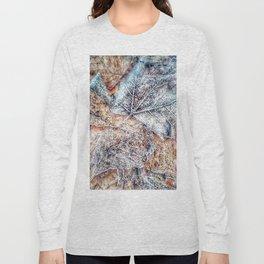 winter leaves pattern Long Sleeve T-shirt