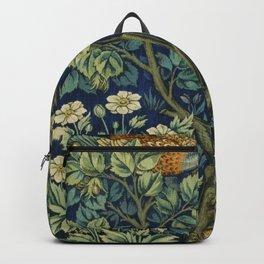 Vintage William Morris pattern pheasant and squirrel Backpack