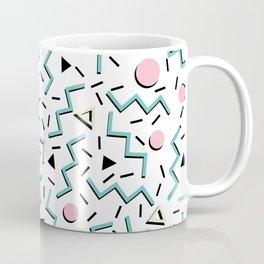 Back to the 80's eighties, funky memphis pattern design Coffee Mug